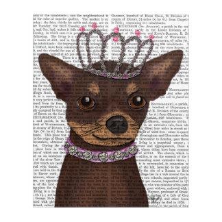 Brown Chihuahua And Tiara Acrylic Wall Art