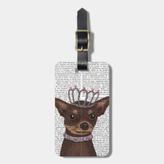 Brown Chihuahua And Tiara Luggage Tag