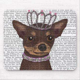Brown Chihuahua And Tiara Mouse Pad