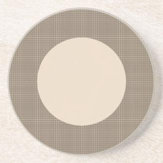 Brown Circle Beverage Coasters