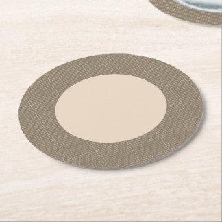 Brown Circle Round Paper Coaster