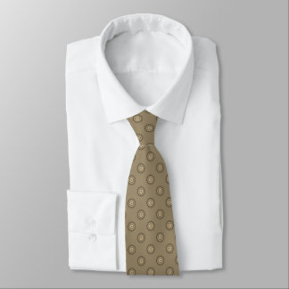 Brown Circular Polka Dot Pattern Tie