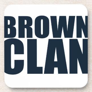 Brown Clan Coaster