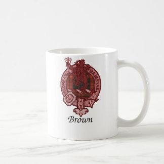 Brown Clan Crest Basic White Mug
