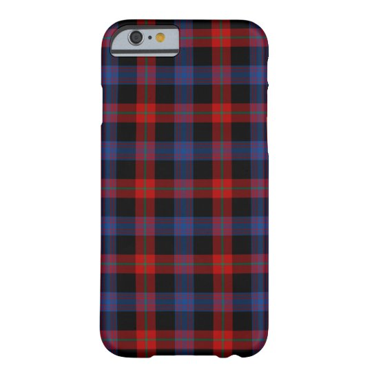Brown Clan Royal Blue and Red Tartan Barely