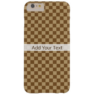 Brown Classic Checkerboard by Shirley Taylor Barely There iPhone 6 Plus Case