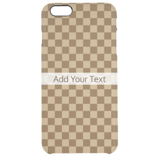 Brown Classic Checkerboard by Shirley Taylor Clear iPhone 6 Plus Case