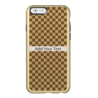 Brown Classic Checkerboard by Shirley Taylor Incipio Feather® Shine iPhone 6 Case
