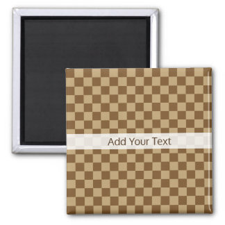 Brown Classic Checkerboard by Shirley Taylor Magnet