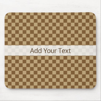 Brown Classic Checkerboard by Shirley Taylor Mouse Mat