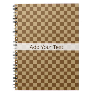 Brown Classic Checkerboard by Shirley Taylor Notebooks
