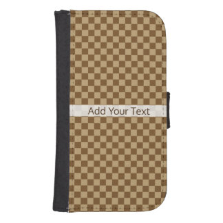 Brown Classic Checkerboard by Shirley Taylor Samsung S4 Wallet Case