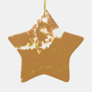 Brown Clouds Christmas Ornament