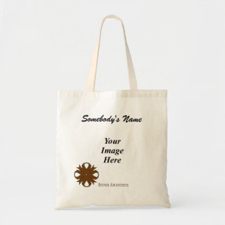 Brown Clover Ribbon Template Budget Tote Bag