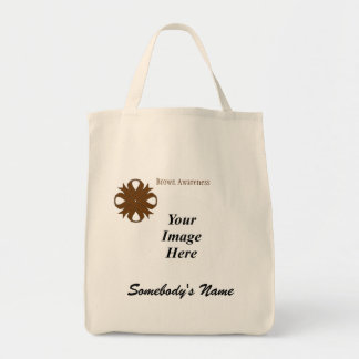 Brown Clover Ribbon Template Grocery Tote Bag