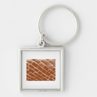 Brown Cobbles Reversed Key Ring