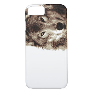 Brown Color Tones Wolf iPhone 7 Case