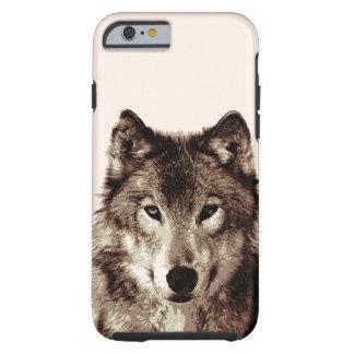 Brown Color Tones Wolf Tough iPhone 6 Case