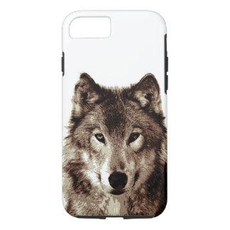 Brown Color Tones Wolf Tough iPhone 7 Case