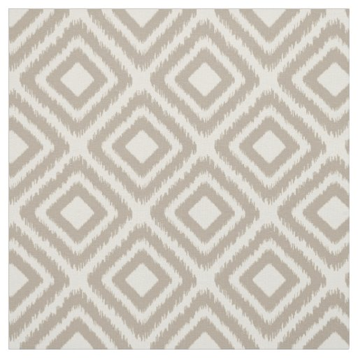 Brown colour modern Ikat diamond pattern Fabric