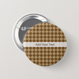 Brown Combination Diamond Pattern by STaylor 6 Cm Round Badge