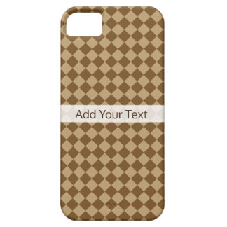 Brown Combination Diamond Pattern by STaylor Barely There iPhone 5 Case