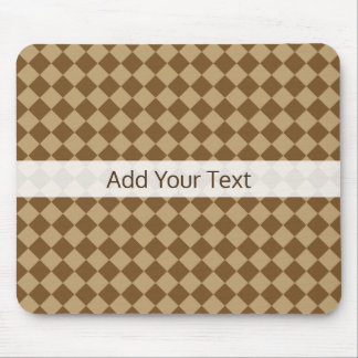 Brown Combination Diamond Pattern by STaylor Mouse Pad