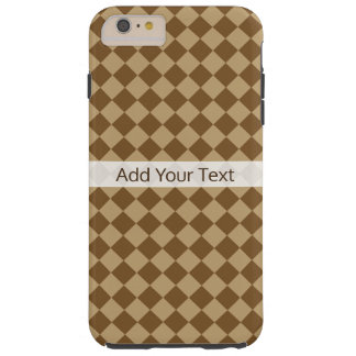 Brown Combination Diamond Pattern by STaylor Tough iPhone 6 Plus Case