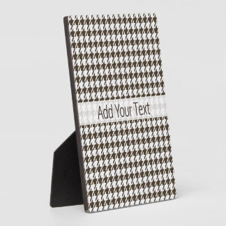 Brown Combination Houndstooth by Shirley Taylor Plaque