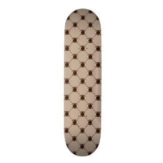 brown connecting eyes skateboard decks