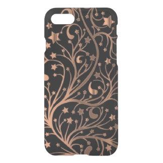 Brown Copper Black Decorative Metallic Stars iPhone 8/7 Case