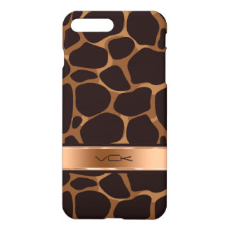 Brown & Copper Leopard Animal iPhone 7 Plus Case