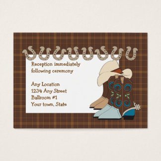 Brown Country Western Reception Cards