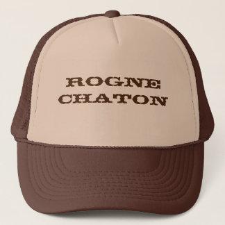 Brown course trucker hat