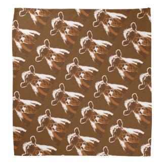 Brown Cow Farm Animal Head Kerchiefs