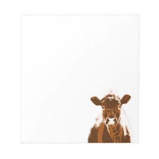 Brown Cow Farm Animal Notepad