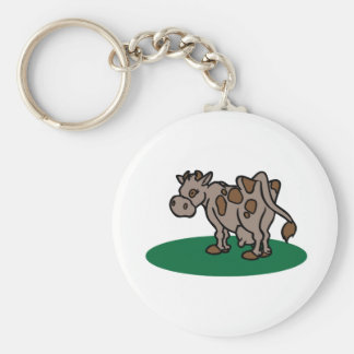 Brown Cow Keychain