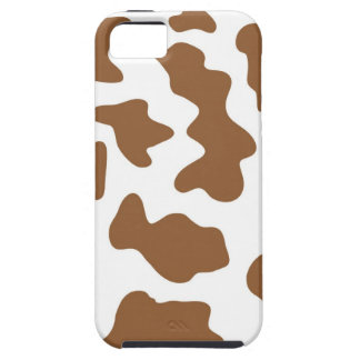 Brown Cow Print iPhone 5 Cases