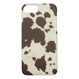 Brown Cow Print iPhone 7 Case