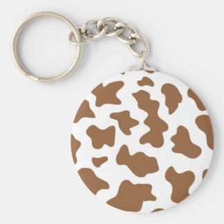 Brown Cow Print Key Chains