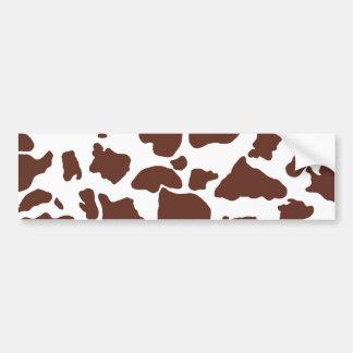 Brown cow skin Bumper Sticker