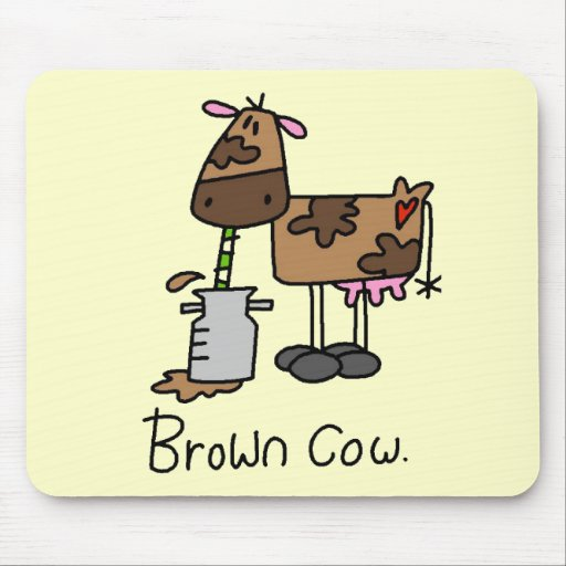 Brown Cow T-shirts and Gifts Mouse Mat