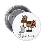 Brown Cow T-shirts and Gifts Pinback Buttons