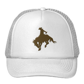 Brown Cowboy Bucking Horse Cap