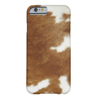 Brown Cowhide Print Barely There iPhone 6 Case