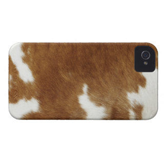 Brown Cowhide Print Case-Mate iPhone 4 Case