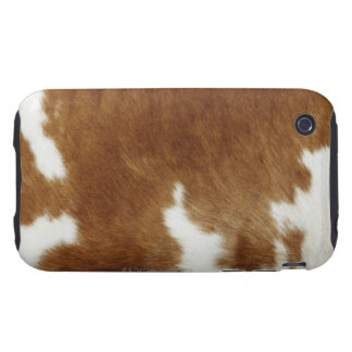 Brown Cowhide Print iPhone 3 Tough Covers