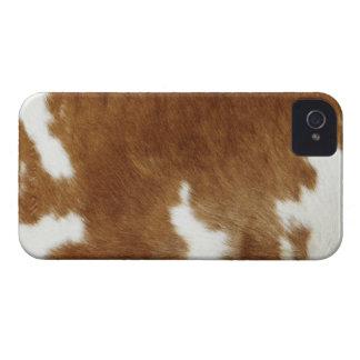 Brown Cowhide Print iPhone 4 Covers