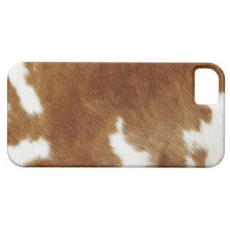 Brown Cowhide Print iPhone 5 Case