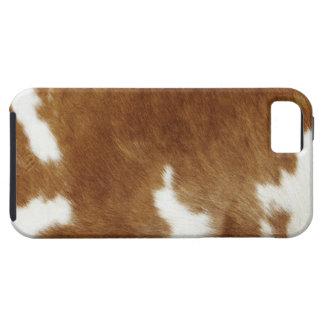 Brown Cowhide Print Tough iPhone 5 Case